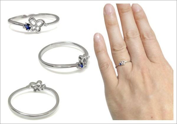 蝶 シンプル 指輪