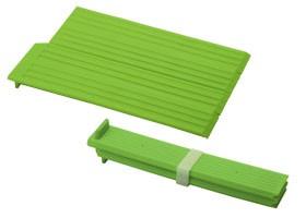 折りたたみシリコン水きりプレート グリーン