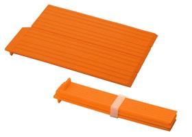 折りたたみシリコン水きりプレート オレンジ