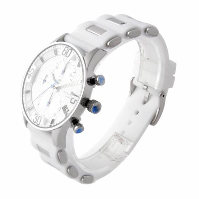 サルバトーレ・マーラ Salvatore Marra SM16111-SSWH  メンズ クロノグラフ 腕時計