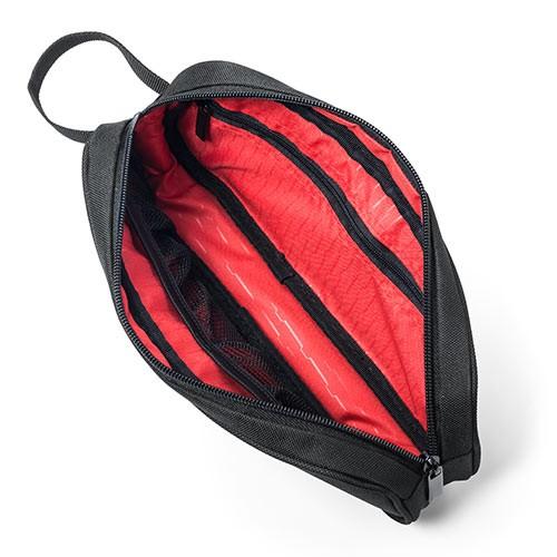 旅行用ポーチ スリム形状 ACアダプター 収納ポーチ 出張 小物ケース [200-BAGIN010]