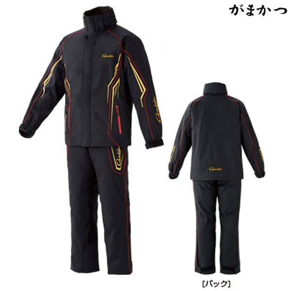 信頼 がまかつ オールウェザースーツ ブラック×ゴールド GM-3525 (防寒着 防寒ウェア), 朝倉町 bc5076a0