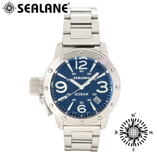 【楽天スーパーセール】 ウォッチ/クォーツ/日付//メンズ/腕時計/送料無料 【SEALANE/シーレーン】SE32 シリーズ(ブルー)メタルベルト-腕時計メンズ