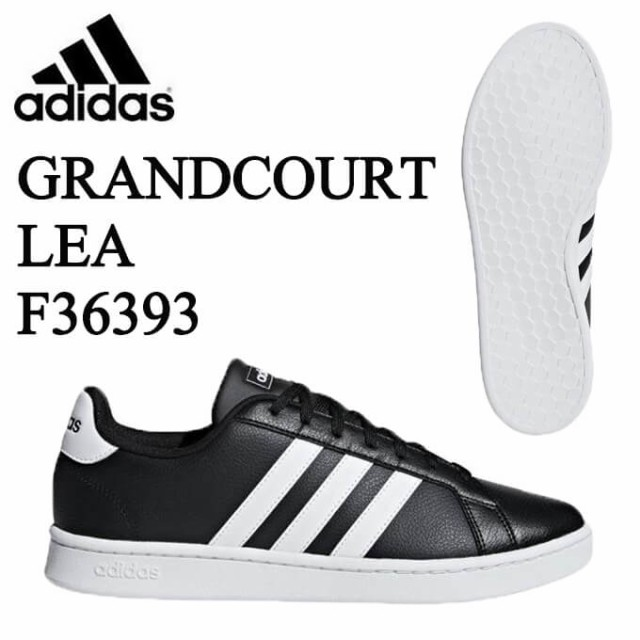 アディダス メンズ スニーカー GRANDCOURT LEA U F36393 グランドコート カジュアル シューズ 靴 通学 run|au  Wowma!(ワウマ)