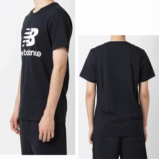 00bbae76a1102 ニューバランス Tシャツ 半袖 メンズ エッセンシャルスタックドロゴTシャツ AMT91546 new balance sw