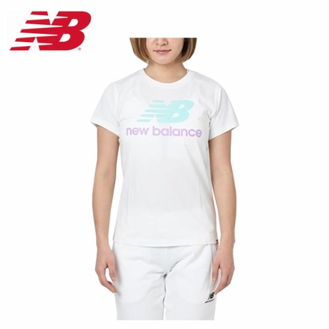8bf3238e9ba1b ニューバランス Tシャツ 半袖 レディース エッセンシャルスタックドロゴ AWT91546 SU new balance sw