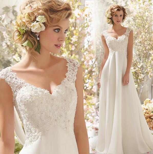 ウェディングドレス 花嫁ドレス ゴージャス ロングドレス きれいめ 結婚式 マーメイドドレス レース エンパイアドレス S3445|au  Wowma!(ワウマ)