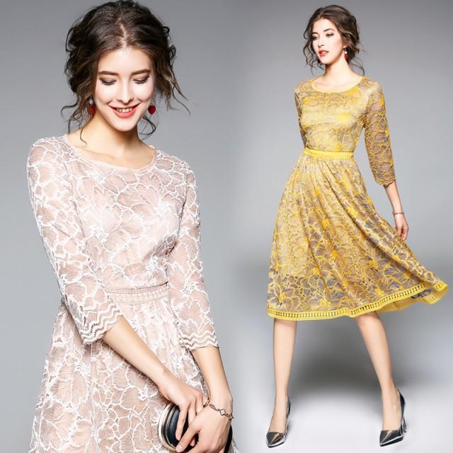 bf0a761efb3c1 パーティドレス 結婚式 秋新作 ドレス お呼ばれ ワンピース 20代 30代 40代 2018