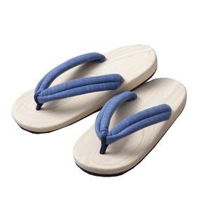 送料無料 高級檜サンダル(ブルー) ファッション:靴・シューズ:サンダル:その他のサンダル