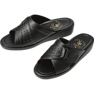 送料無料 (まとめ)山一 防臭サンダル ブラック LLサイズS538-BK-LL 1足【×2セット】 ファッション:靴・シューズ:サンダル:その他のサ