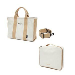 定番 送料無料 AGATHA(アガタ)AGT202-522&022 キャンバス素材サマーバッグセット ファッション:バッグ:トートバッグ:その他のトートバッグ, koreaVOCE 097c54ab
