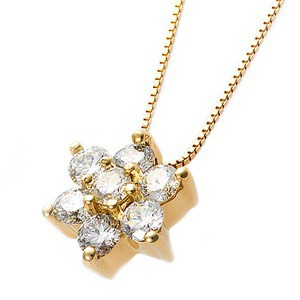 正規店仕入れの 送料無料 ペンダント ネックレス ダイヤモンド ネックレス 0.3ct K18 イエローゴールド 0.3カラット 花 花 フラワーモチーフ ペンダント 鑑別カード付き ファッショ, パレットプラス:79e3be0d --- kzdic.de