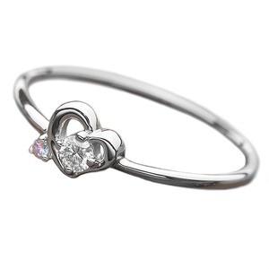割引 送料無料 ダイヤモンド リング ダイヤ アイスブルーダイヤ 合計0.06ct 9.5号 プラチナ Pt950 ハートモチーフ 指輪 ダイヤリング 鑑別カー, ナガレヤマシ c13d3dbd