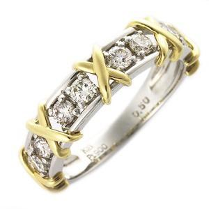 【代引き不可】 送料無料 送料無料 ダイヤモンド リング 0.5ct ハーフエタニティ プラチナPt900 K18イエローゴールド コンビ コンビ ダイヤ合計8石 ダイヤ合計8石 指輪 UGL鑑別カード付, オニュウグン:5a53b11a --- chevron9.de