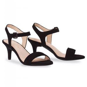 【はこぽす対応商品】 7cm et Velours/Stiletto 36(23cm相当)】 ミミ・エ・モイ【 moi 【Black ヒール付け替え可能サンダル/婦人靴 Mime 送料無料 ブラック-靴・シューズ
