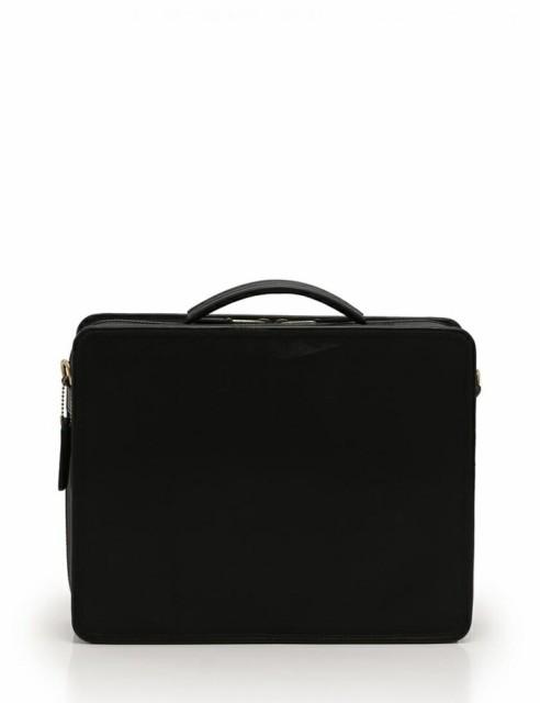 【中古】美品 COACH コーチ PCケース ビジネスバッグ 2WAY 0539 レザー ナイロン 黒【本物保証】