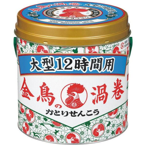 金鳥の渦巻 大型 12時間用 40巻 (缶) × 12個 : 大日本除虫菊(金鳥)