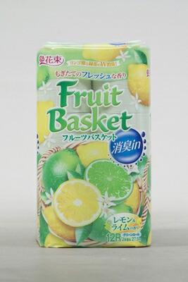 フルーツバスケット消臭INレモン&L 12RW × 8個 : 丸富製紙