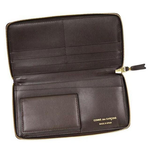 コム デ ギャルソン COMME des GARCONS ラウンドファスナー 長財布 CLASSIC ブラック cdg-sa0110-brow