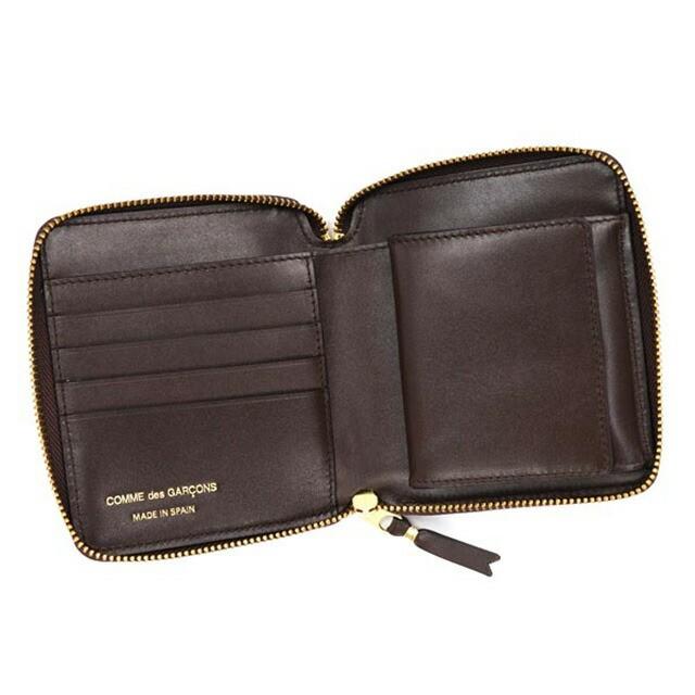 コム デ ギャルソン COMME des GARCONS ラウンドファスナー 二つ折り財布 CLASSIC ブラウン cdg-sa2100-brow