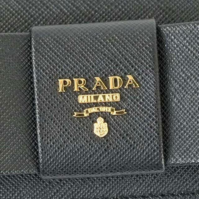 プラダ 長財布 サフィアーノ ブラック