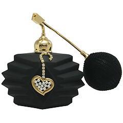 ブラック クリスタルアトマイザー フランス製 ブラッククリスタル香水瓶 660303 (クリスタルオープンハート) 72ml