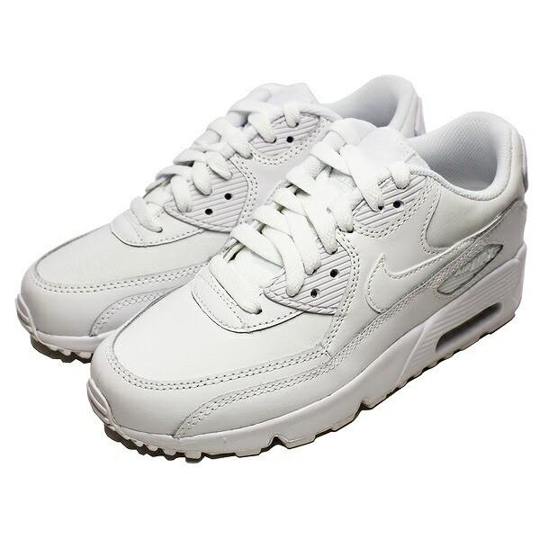 送料無料 ナイキ エア マックス 90 レザー GS (子供用) [サイズ:23.5cm(US5Y)] [カラー:ホワイト×ホワイト]  #833412-100 NIKE 靴 の通販はWowma!