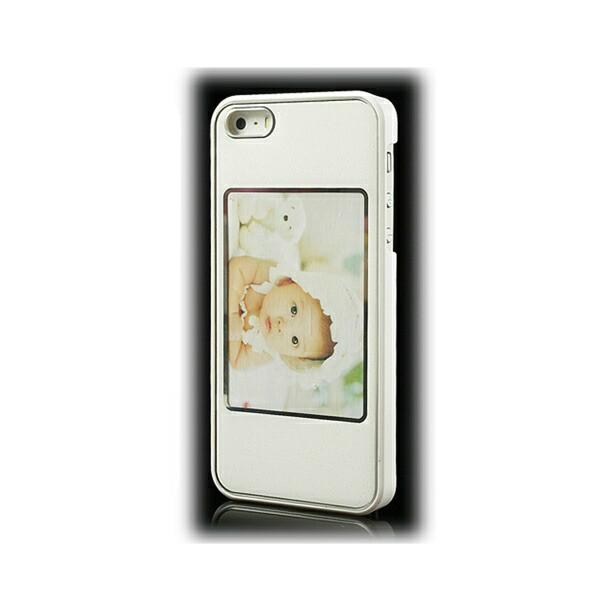 【iPhoneSE / iPhone5s】 iPhone SE iPhone 5s フォトフレームのデザイン ハードケース ホワイト  電化製品