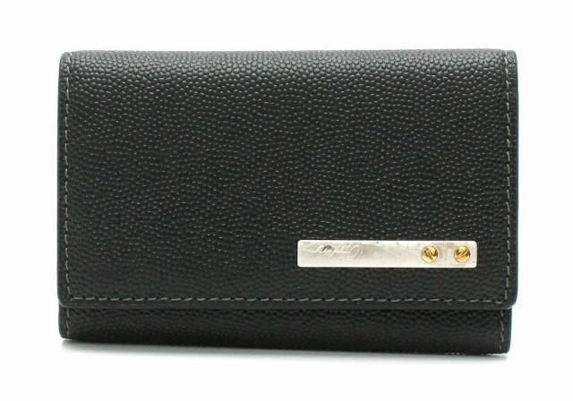 カルティエ サントス ライン 6連キーケース グレインドカウハイドレザー 黒 ブラック シルバー金具 L3000775