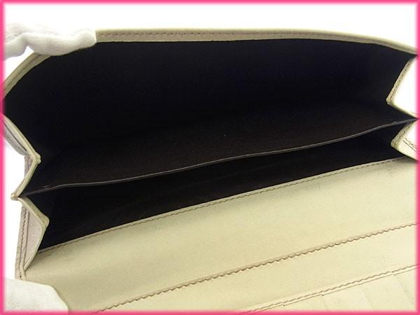 グッチ GUCCI 長財布 Wホック 二つ折り メンズ可 ロゴプレート付き 112715 グッチシマ [中古] 良品 人気 C1577