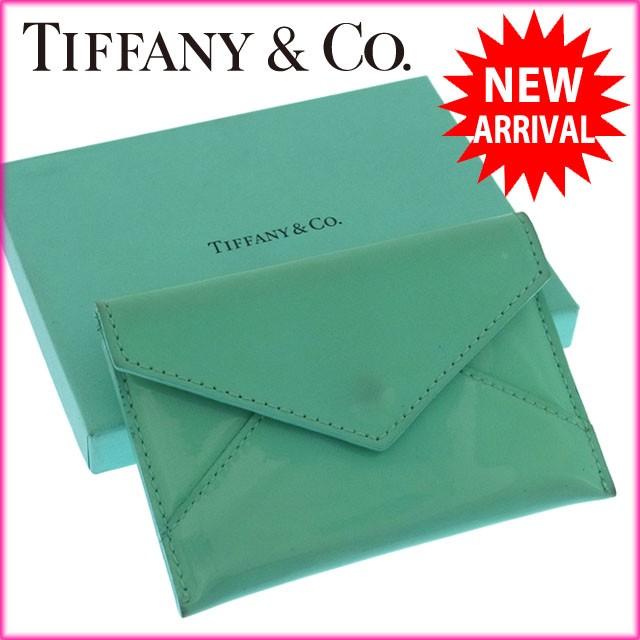 ティファニー Tiffany&Co. カードケース 名刺入れ 小銭入れ メンズ可 レターデザイン [中古] 良品 人気 H190