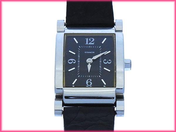 コーチ COACH 腕時計 クォーツ レディース クロコダイル調 スクエアフェイスセール 良品【中古】 Y2455