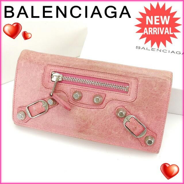 バレンシアガ BALENCIAGA 長財布 ファスナー 二つ折り レディース ジャイアントマネー良品 セール【中古】 Y3262