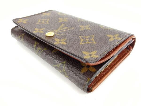ルイヴィトン Louis Vuitton L字ファスナー財布 二つ折り メンズ可 ポルトモネビエトレゾール モノグラム激安 セール【中古】 Y2066