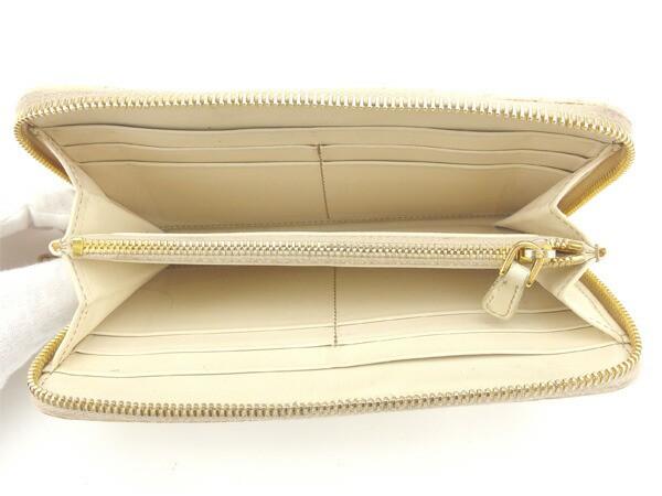 ミュウミュウ miumiu 長財布 ラウンドファスナー財布 レディース クロコダイル調 [中古] 人気 セール L748