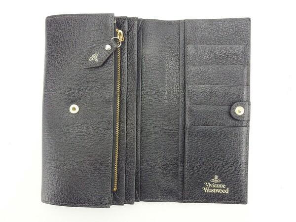 ヴィヴィアンウエストウッド Vivienne Westwood 長財布 ファスナー 二つ折り 男女兼用 オーブ [中古] 人気 セール L861
