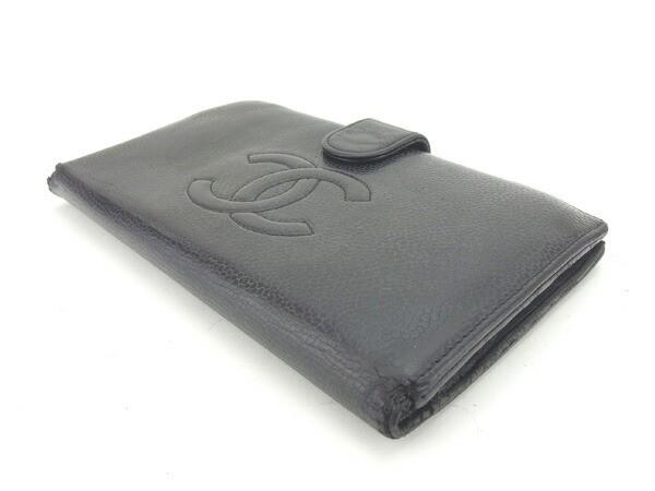 シャネル CHANEL 長財布 がま口 男女兼用 ココマーク [中古] 激安 セール G886