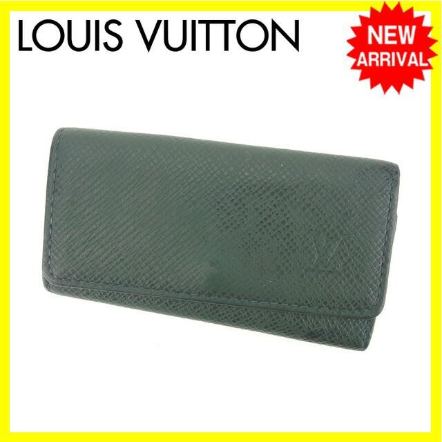 ルイヴィトン Louis Vuitton キーケース 4連キーケース 男女兼用 ミュルティクレ4 タイガ人気 セール【中古】 Y4206