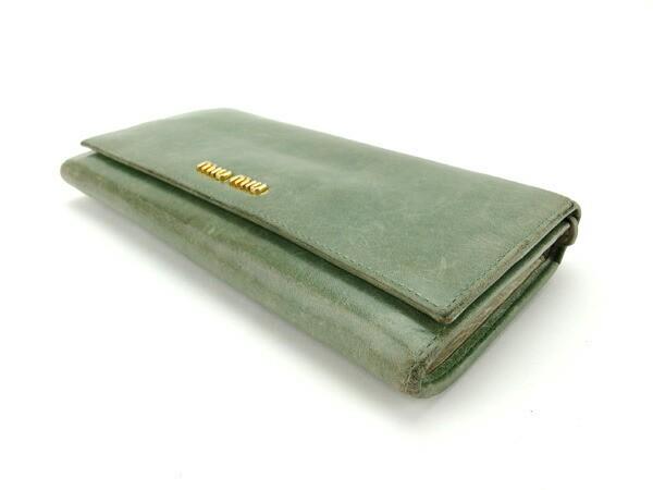 ミュウミュウ miumiu 長財布 ファスナー付き長財布 レディース ロゴ [中古] 人気 セール E1018
