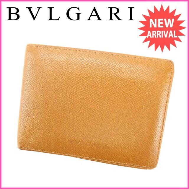 ブルガリ BVLGARI 二つ折り札入れ メンズ可 人気 セール【中古】 Y2004