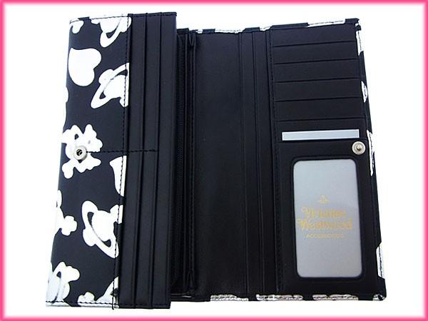 ヴィヴィアンウエストウッド Vivienne Westwood 長財布 ファスナー 二つ折り レディース オーブ×ハート×スカル柄 オーブプレート新品