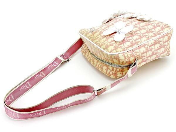 ディオール Dior ショルダーバッグ 斜めがけショルダー レディース ガーリー トロッター 人気 セール【中古】 T2327