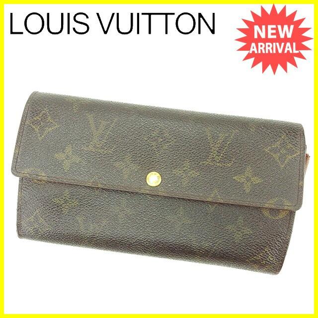 ルイ ヴィトン LOUIS VUITTON 長財布 ファスナー付き長財布 財布 メンズ可 ポシェットポルトモネクレディ モノグラム人気 セール