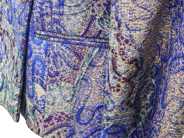 ジャンフランコフェレ GIANFRANCO FERRE ジャケット ビジューボタン レディース ♯40サイズ ダブル 総刺繍 [中古] 美品 セール L1584