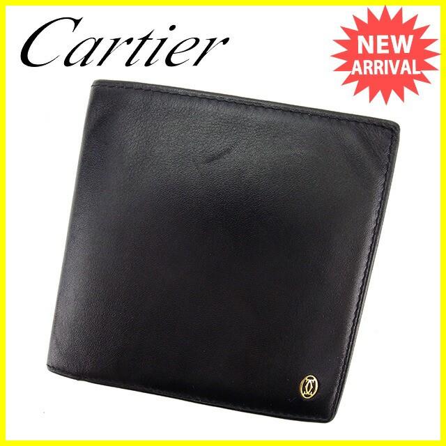 e5449d0c7153 カルティエ Cartier 二つ折り財布 財布 レディース メンズ 可 ...