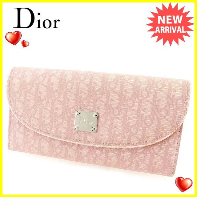 ディオール Dior 長財布 ファスナー付き 財布 レディース トロッター人気 セール【中古】 T2461