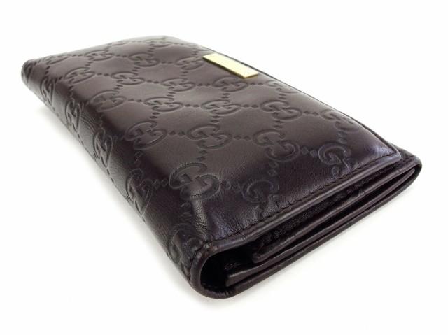 グッチ Gucci 長財布 二つ折り 財布 レディース メンズ 可 グッチシマ人気 セール【中古】 T3216