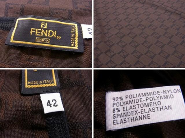 フェンディ FENDI カットソー タンクトップ トップス レディース ♯42サイズ ノースリ FF柄 美品 セール【中古】 S676