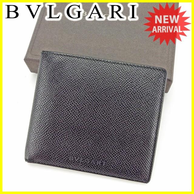 ブルガリ BVLGARI 二つ折り財布 財布 メンズ可 美品 セール【中古】 T3990