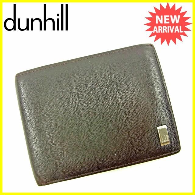ダンヒル dunhill 二つ折り 財布 メンズ ロゴプレート人気 セール【中古】 S659